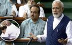 PM Modi takes a jibe at Rahul Gandhi's hug in Lok Sabha