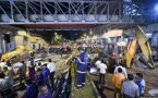 Collapsed Mumbai Foot Over Bridge used by Ajmal Kasab during 26/11