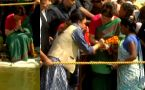 Priyanka Gandhi Vadra prayers at Triveni Sangam in Prayagraj