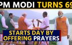 PM Modi turns 69, starts his day by offering prayers at Narmada River in Gujarat