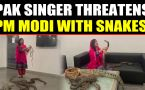 Pakistani Pop Singer Rabi Pirzada threatens PM Modi with snake, video viral