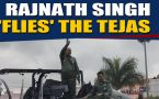 Rajnath Singh flies Tejas, takes control for a while