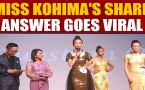Miss Kohima 2019 contestant wows audience with a witty answer to jury, video goes viral