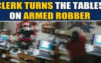Heroic hotel clerk confronts an armed robber, video goes viral
