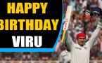 Sehwag celebrates 40th birthday