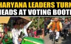Haryana Polls: Leaders cast their votes in unique manner, video viral