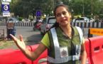 This Girl manages traffic with her dance moves in Indore