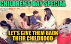 On Children's Day, we spend time with kids who deserve a childhood too