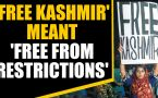 Woman holding 'free Kashmir' poster fears for her life