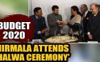 Budget 2020: FM Nirmala Sitharaman attends 'Halwa ceremony' at Finance ministry