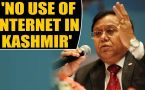 Niti Aayog member VK Saraswat says Kashmiris have no use of internet