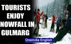 Gulmarg, J&K: Tourists rejoice snowfall, skiers showcase skill