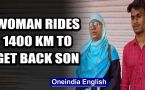 Telangana woman rides 1,400 Km on her scooty to bring back son stranded in Andhra Pradesh