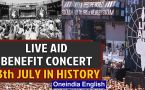 Live  Aid benefit concert and other important events in history