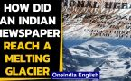 Indian Newspapers from 1966 found on melting glacier in France
