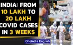 Coronavirus Cases in India cross 2 million  mark, over 62,000 Covid-19 cases in 24 hours