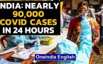 India reports daily jump of 89,706 cases and 1,115 virus related deaths in last 24 hours