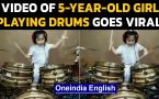 Video of a 5-yr-old girl playing drums goes viral on social media, leaving everyone speechless