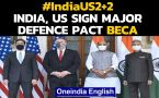 India-US  Dialogue: India, US ink strategic defence pact days before US Polls