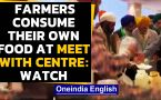 Farmers refuse food offered by the Government, bring their own food at meet with Centre