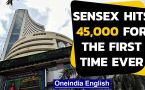 RBI ups GDP forecast from -9.5% to -7.5%, Sensex hits 45,000 for the first time eve