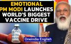 Emotional PM Modi launches WORLD'S BIGGEST vaccine drive