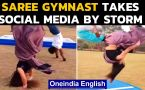 Extraordinary stunts in Saree | Watch viral video
