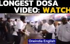 Anand Mahindra shares a video of the longest dosa: Watch the video