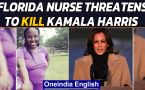 Florida nurse arrested for threating to kill US Vice President Kamala Harris