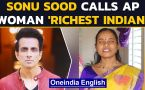 Sonu Sood hails blind AP woman as 'a true hero'| Donates 5 months' pension Rs.15000