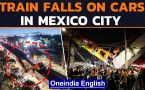 Mexico City: Overpass carrying metro train cars collapses on road