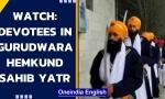 Uttarakhand: Devotees participate in Gurudwara Hemkund Sahib Yatra in Chamoli   Watch