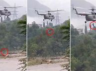 IAF Rescues Two People From A Flooded Area In Mandi