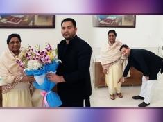 Election 2019 : Tejashwi Yadav predicts BJP's Whitewash after meeting Mayawati
