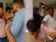 Watch: BJP workers attack polling officers in Moradabad