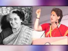 Priyanka Gandhi remembers Indira Gandhi during his speech in Ratlam
