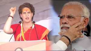 Priyanka Gandhi taunts PM Modi during his speech in Ratlam