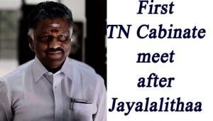 Panneerselvam to chair first Tamil Nadu Cabinet meeting after Jayalalithaa