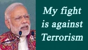 PM Modi in Deesa : My fight is with Terrorism, Watch video