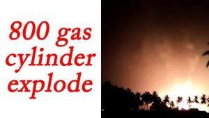 800 gas cylinder explode in Karanataka, Watch Video