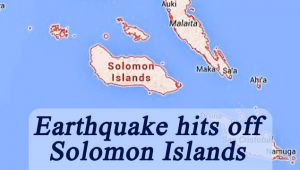 Solomon, Islands earthquake 7.7 magnitude; Tsunami warning