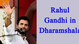 Rahul Gandhi to address rally in  Dharamshala
