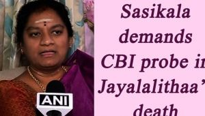 Sasikala Pushpa smells foul play behind Jayalalithaa's death, demands CBI enquiry