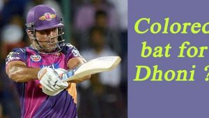 MS Dhoni might play with colored bat in IPL