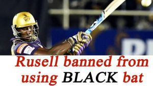 Big Bash League : Andre Russell banned from using 'Black' bat