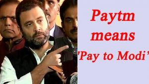Rahul Gandhi says Note ban a foolish decision, not bold, Paytm means 'Pay to Modi
