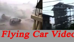 Vardah Cyclone: Car fly away, building collapsed; Watch video