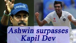 Ashwin equals Kapil Dev's record of 23-five-wicket-hauls