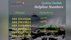 Cyclone Vardah : Safety tips, Do's-Don't, helpline number