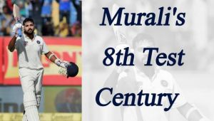 Murali Vijay is third opener to hit century at Wankhede